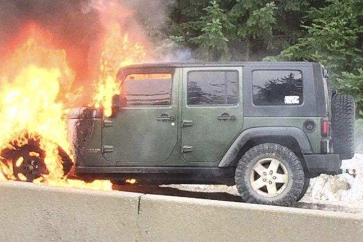 Jeep on fire, engine problems, off roading, the best engine, most reliable truck engine ever