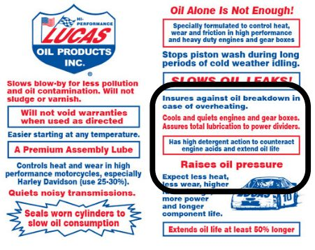 Lucas oil stabilizer snake oil or worthwhile product. false advertising