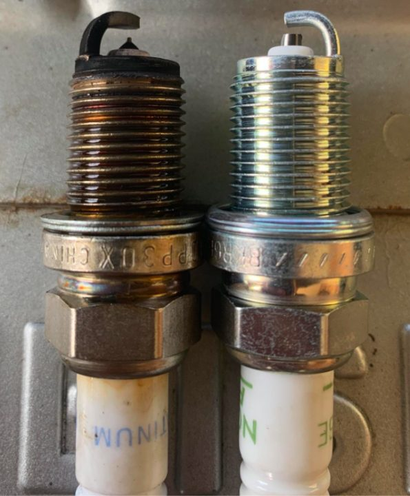 New And Old Spark Plugs Scaled