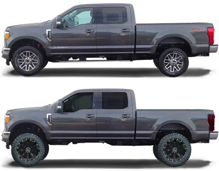 lift kit before and after