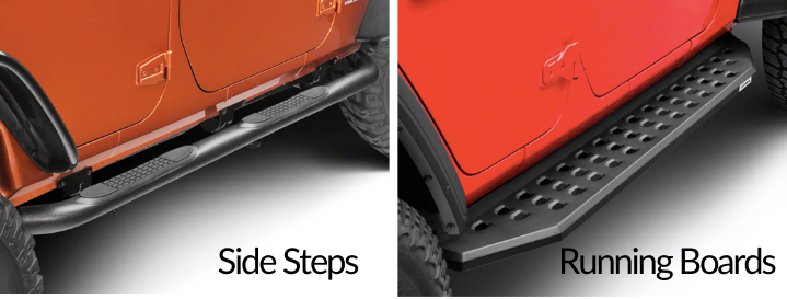 Difference Between Running Boards And Side Steps